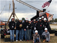 Dark Falcons Fly into Second Place at New Hampshire Pumpkin Chucking Competition
