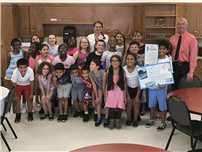 JFK's Bachez Awarded for Pool Safety Poster 2