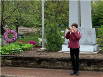 HS Trumpeter Plays at Town Memorial Day Ceremony thumbnail169497