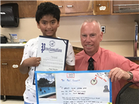 JFK's Bachez Awarded for Pool Safety Poster